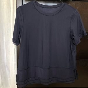 Lululemon short sleeve ruffle top